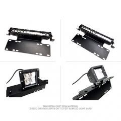 Universal War-Horse License Plate Mounting Bracket For LED Work Light Bar and Work Lamps,Fits most license plates