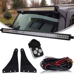 HUMMER 50-INCH STRAIGHT LED LIGHT BAR UPPER WINDSHIELD MOUNTS (H3)