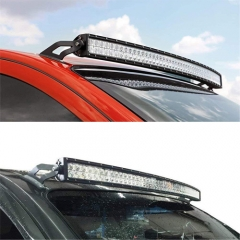 NISSAN 50-INCH CURVED LED LIGHT BAR UPPER WINDSHIELD MOUNTS (04-14 TITAN)