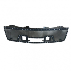 CHEVY MESH GRILLE W/ DUAL 12IN BLACK SERIES LEDS (07-13 SILVERADO 1500)