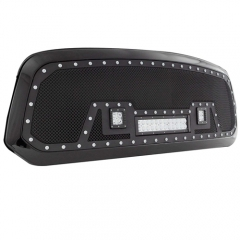DODGE MESH GRILLE W/12IN DUAL ROW BLACK SERIES LED ( 09-12 RAM 1500)