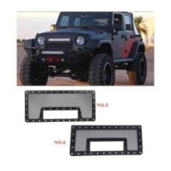 JEEP MESH GRILLE W/ DUAL 12IN BLACK SERIES LEDS (07-16 JK)