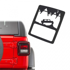 SET TAILLIGHT GUARDS PROTECTOR COVER LAMP TRIM FOR JEEP WRANGLER (2007-2017 JEEP WRANGLER JK)