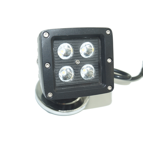 3-inch Black Cover Square CREE LED Work light